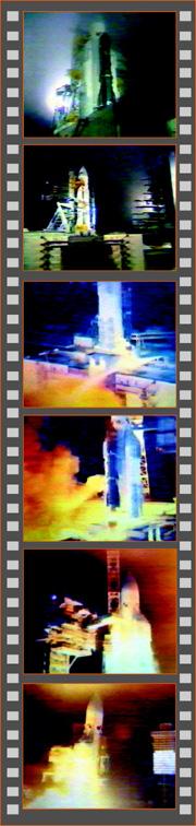 """Кинограмма запуска комплекса """"Энергия-Полюс"""" 15 мая 1987 года"""