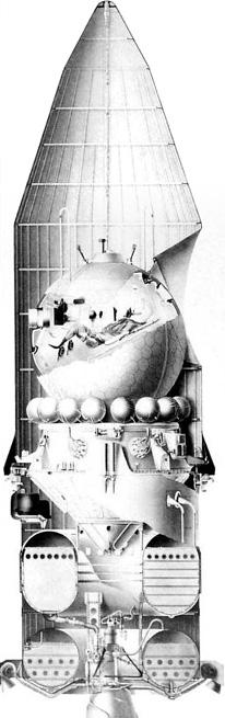 """Космический корабль  """"Восток """" (ЗКА), также как и корабль  """"Восток-1 """" (1К) состоял из спускаемого аппарата и приборного..."""